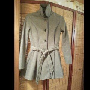 Grey JouJou Belted Coat